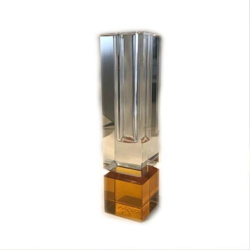 Tudo sobre 'Vaso Solitário em Vidro 15,5 Cm Ambar Transparente'