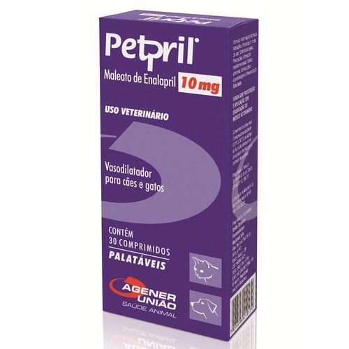 Vasodilatador Agener União Petpril 10mg 30 Comprimidos