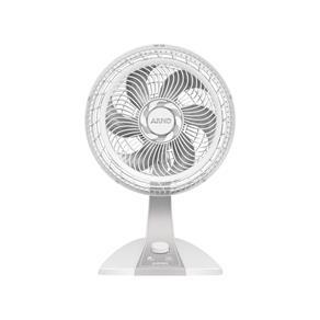 Ventilador Arno Silence Force Silver Branco, VE3215B1, Power Zone, 6 Pás, 3 Velocidades, Oscilação Horizontal, Grade Segura, Porta-fios, 110V