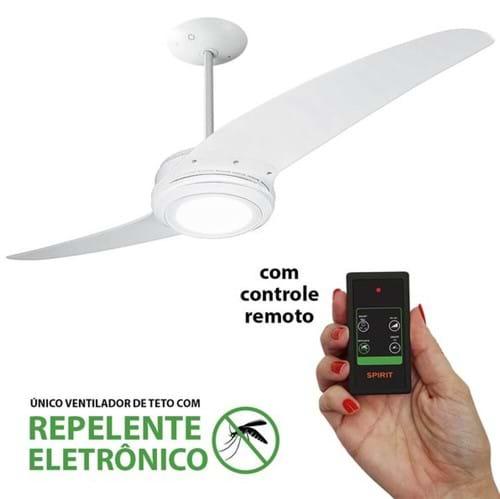 Tudo sobre 'Ventilador de Teto Spirit 203 Branco LED Repelente Controle Remoto'