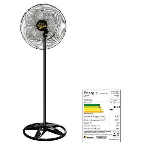 Ventilador Oscilante de Coluna 60 Cm Preto - GOLD - Venti Delta