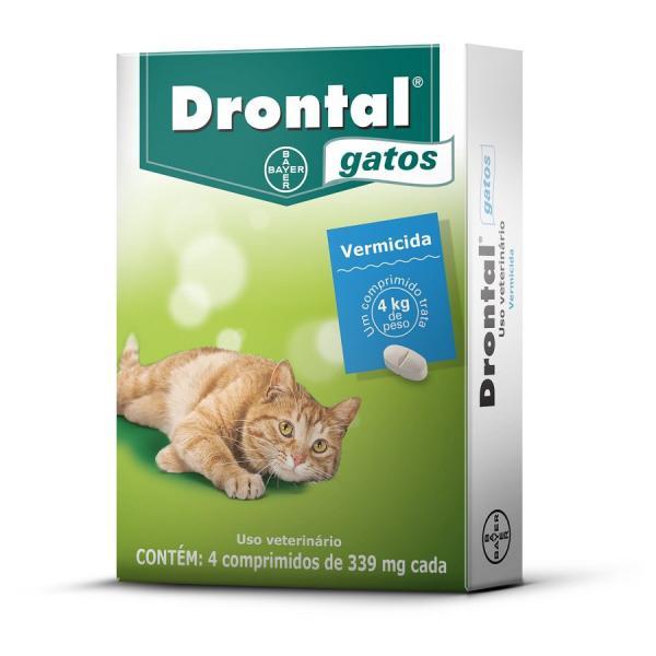 Vermífugo Bayer Drontal Gatos 339 Mg com 04 Comprimidos