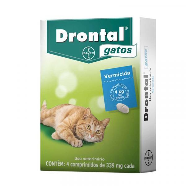 Vermifugo Drontal Gatos (4 Comprimidos) - Bayer