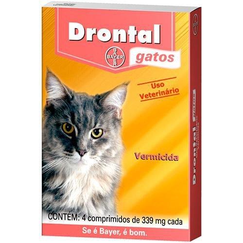 Vermífugo Drontal Gatos - 4/Comprimidos - Bayer
