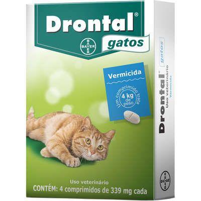 Vermífugo Drontal Gatos 4 Kg - 4 Comprimidos - Bayer