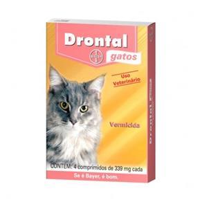 Vermífugo Drontal Gatos Bayer 4 Comprimidos