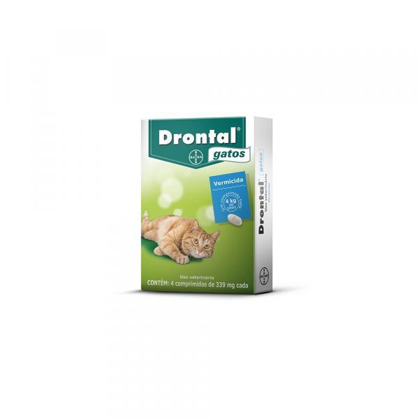 Vermífugo Drontal Gatos com 4 Comprimidos - Bayer