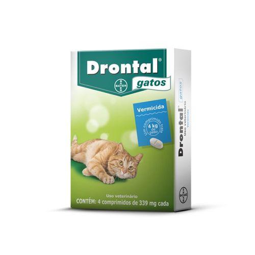 Vermífugo para Gatos Bayer Drontal 4 Comprimidos