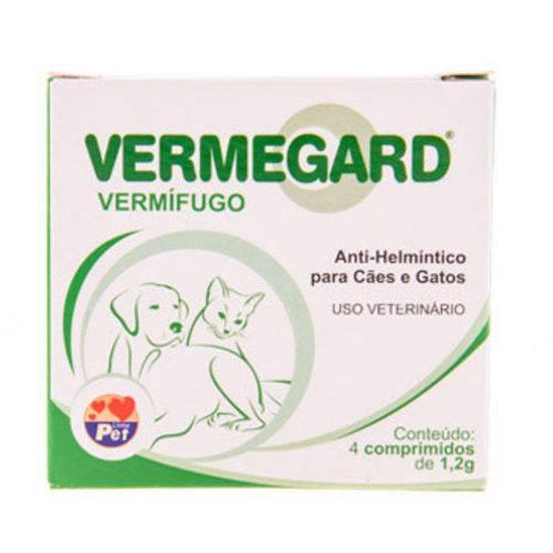Tudo sobre 'Vermífugo Vermegard para Cães e Gatos (4 Comprimidos)'