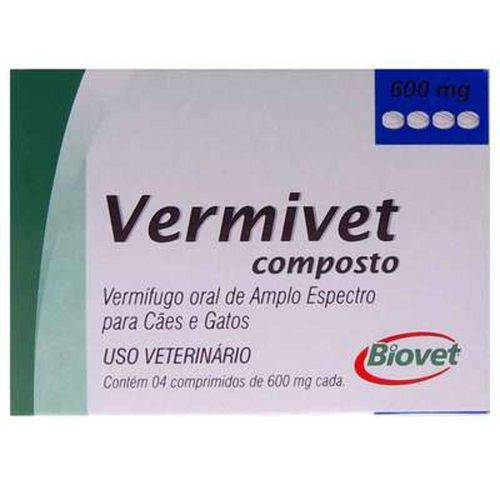 Tudo sobre 'Vermífugo Vermivet Composto 600 Mg'