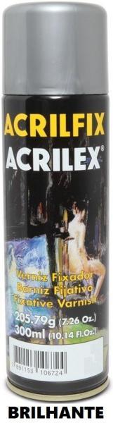 Verniz em Spray Acrilfix Brilhante 10672 300ml Acrilex