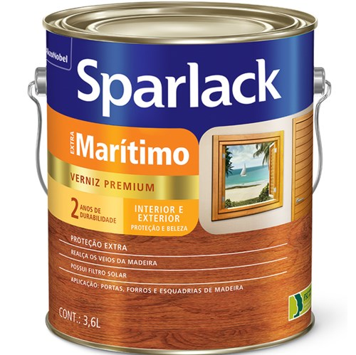 Verniz Extra Marítimo Brilhante Incolor 3,6L Sparlack