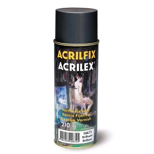 Verniz Fixador Brilhante Acrilfix 300 Spray - Acrilex-FOSCO