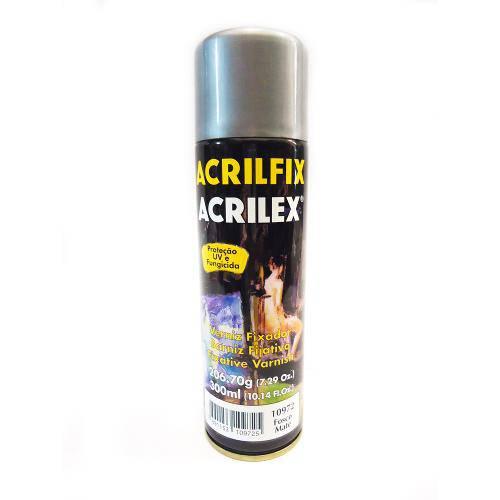 Verniz Fixador Fosco Acrilfix Spray 300ml- Acrilex