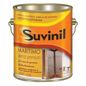 Verniz Maritimo Acetinado Suvinil Mogno 3,6lts.