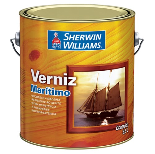 Verniz Marítimo Brilhante Mogno 3,6L Sherwin Williams