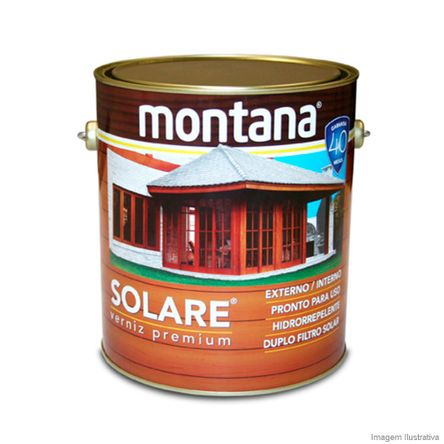 Tudo sobre 'Verniz Premium Solare Acetinado 3,6 Litros Transparente Montana'