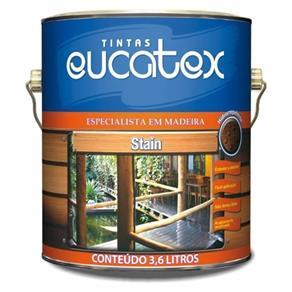 Verniz Stain Acetinado Mogno Eucatex 3,6Lts