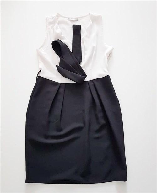 Vestido Alfaiataria Preto e Branco Clorofila (M)