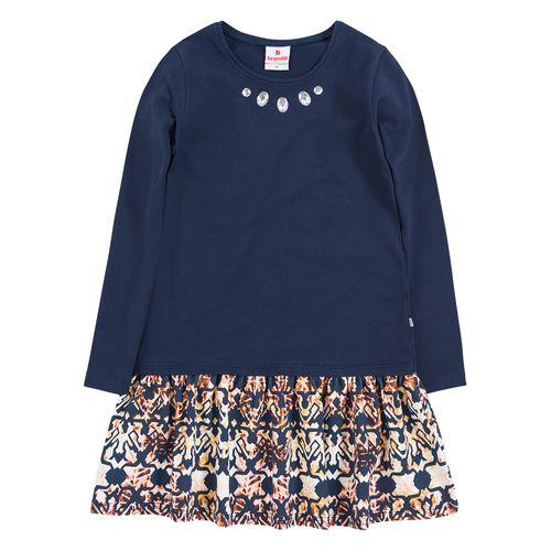 Vestido Azul Marinho com Estampa - 10