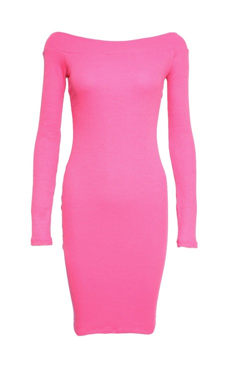 Vestido BeSweet Ombro a Ombro Pink