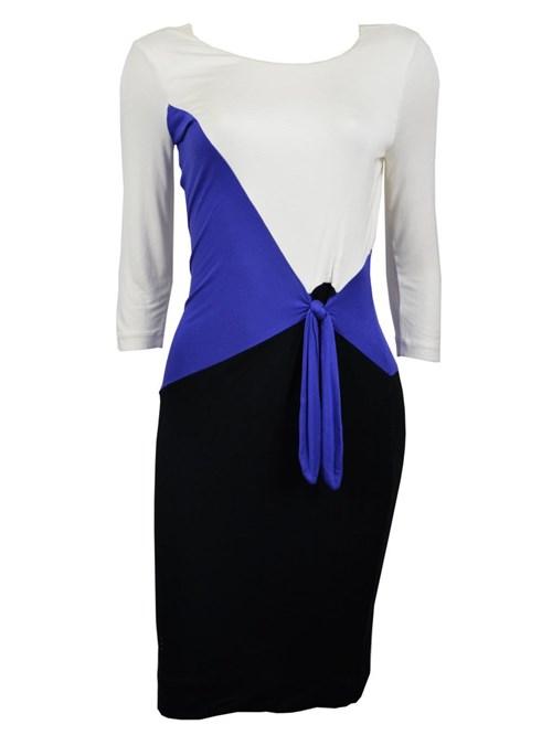 Vestido Calvin Klein Branco, Azul e Preto