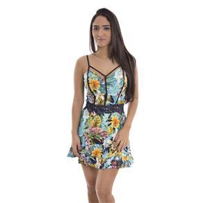 Vestido Crepe Estampado 031869 - G - Estampado Azul
