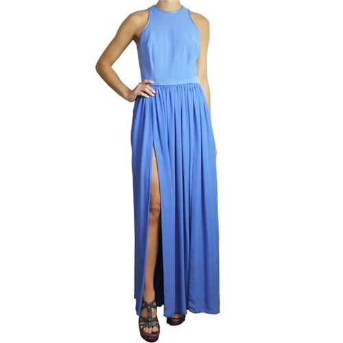 Vestido Debora Mangabeira Longo Azul