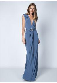 Vestido Detalhe Cintura Azul G
