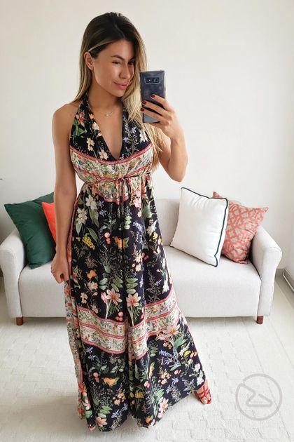 Vestido Dress To Longo Estampa Flô - Estampa