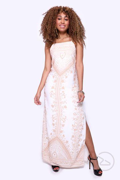 Vestido Dress To Longo Estampa Hamsá - Estampa