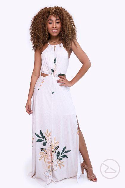 Vestido Dress To Longo Estampa Harmonia - Estampa