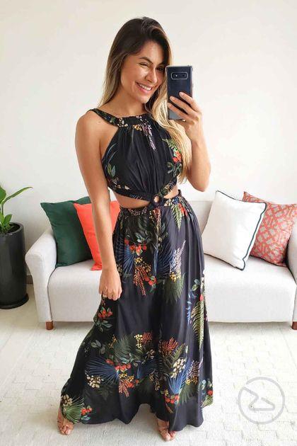 Vestido Dress To Longo Estampa Herbal - Estampa