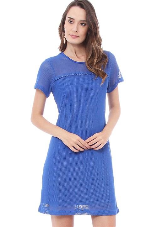 Vestido Estampado Energia Fashion Azul