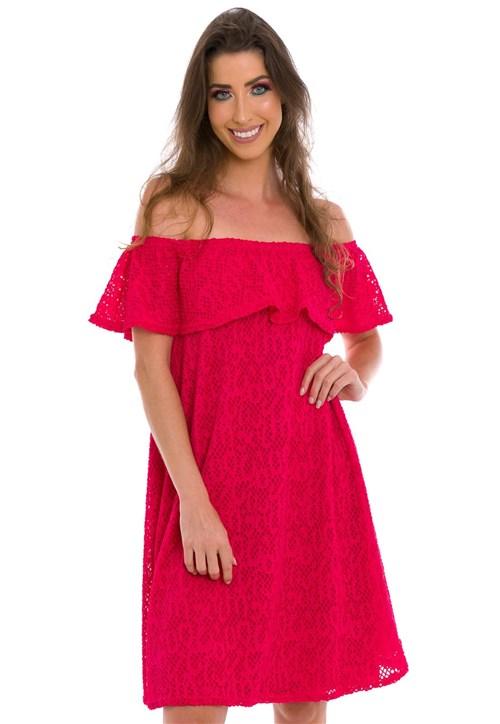 Vestido Jogabe Ombro a Ombro Pink