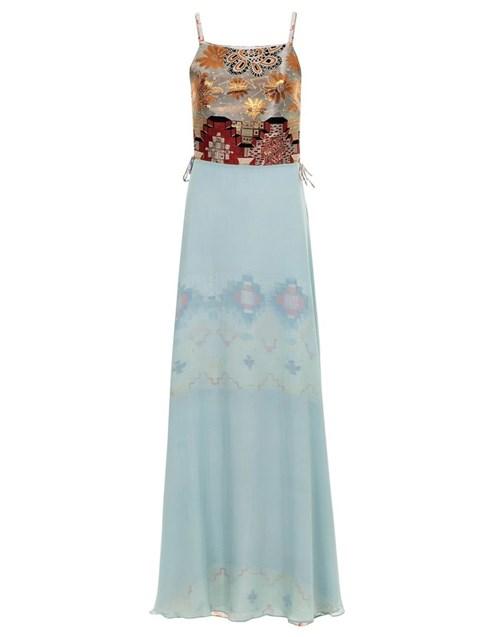 Vestido Kika Simonsen Longo Azul
