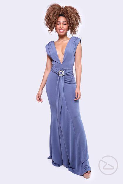 Vestido Lança Perfume Longo Azul