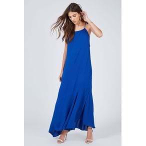 Vestido Longo Básico Azul Mirtilo - 38