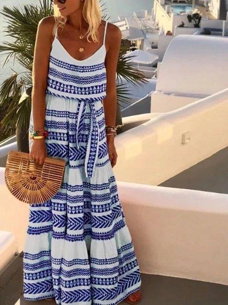 Vestido Longo (Cod. 8264) (Azul, P)
