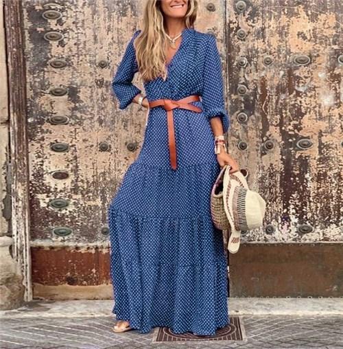 Vestido Longo (Cod. 8878) (P, Azul)