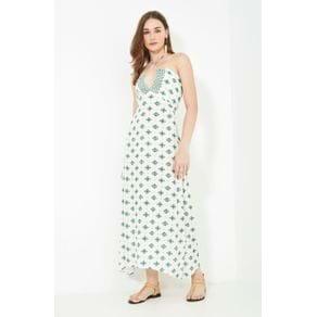 Vestido Longo Estampa Ina Off White - 40