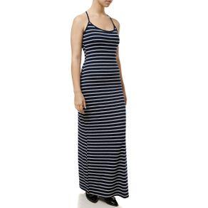 Vestido Longo Feminino Azul Marinho G