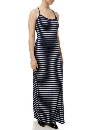 Vestido Longo Feminino Azul Marinho