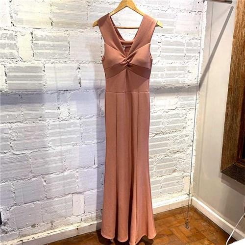 Vestido Longo Rosé Ombro a Ombro