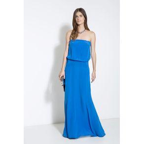 Vestido Longo Tqc Azul Cannes Azul Cannes - 36