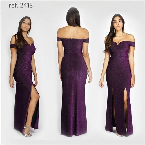 Vestido Lurex Ombro-a-ombro - Ref. 2413