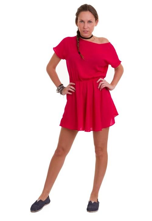 Vestido Manola Ombro a Ombro Rosa