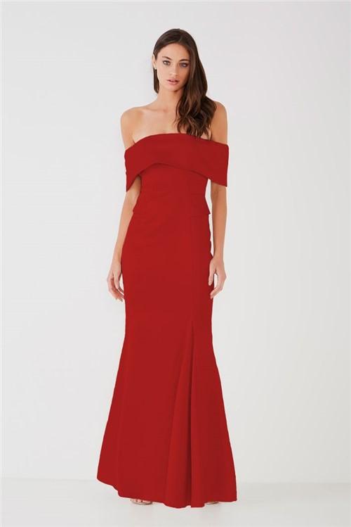 Vestido Ombro a Ombro Lucinda - Tomate 38