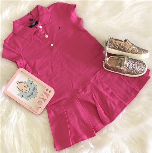 Tudo sobre 'Vestido Polo Pink Tommy Hilfiger (3anos)'