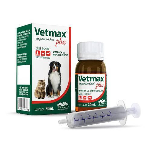 Vetmax Plus Vetnil Suspensão 30ml